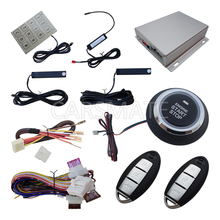 High Quality PKE Car Alarm System Car Passive Keyless Entry Push Button Start Engine Remote Start Engine With Password Keypad(China)