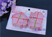2pcs/set Plastic Cute Hello Kitty Cookie Cutters Mold