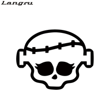 Langru Cool Graphics Monster High Humorous Car Sticker For Truck Window Bumper Auto Vinyl Decal Decorative JDM(China)