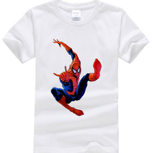 New 2017 children t shirts, Popular Hero Print Kids Baby Boy Tops Short Sleeve T-Shirt Summer Tee spiderman Shirt free shipping(China)