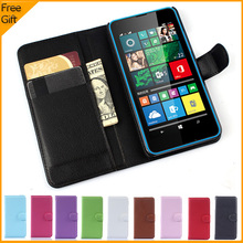 Luxury Wallet Leather Flip Case Cover For Microsoft Lumia 640 Lte Dual SIM Cell Phone Case Back Cover With Card Holder Stand(China)