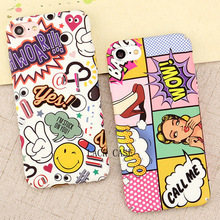 Fashion Sexy Girl Graffiti Letter  case For iphone 7 High Quality Hard PC Red Lip Wave Point Phone Cases For iphone 7 6 6s Plus