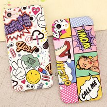 Fashion Sexy Girl Graffiti Letter case For iphone 7 High Quality Hard PC Red Lip Wave Point Phone Cases For iphone 7 6 6s Plus(China)