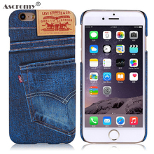 Ascromy For Hard Case iphone 6 plus Cases Classic Jeans Back Cover Phone Cases For iphone 6 6S Plus Case Cellular Accessories