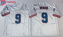 Embroidered Logo Steve McNair 9# throwback high school FOOTBALL JERSEY sky blue white for fans gift cheap 1104-12(China)