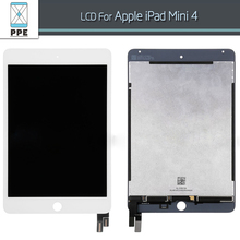 White black Original LCD for Apple iPad Mini 4 LCD display touch screen digitizer glass bezel complete assembly pantalla repair
