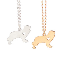 Gold & silver 1pc Cavalier King Charles Spaniel Custom Dog Breed Necklace Pendant Pet Jewelry Memorial Gift Breeder for lovers(China)