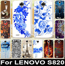 Custom Painted Soft TPU & Hard PC Mobile Phone Cases For Lenovo S820 Covers S 820 Housing Bags Skin Shell  Anti-Scratch Hood