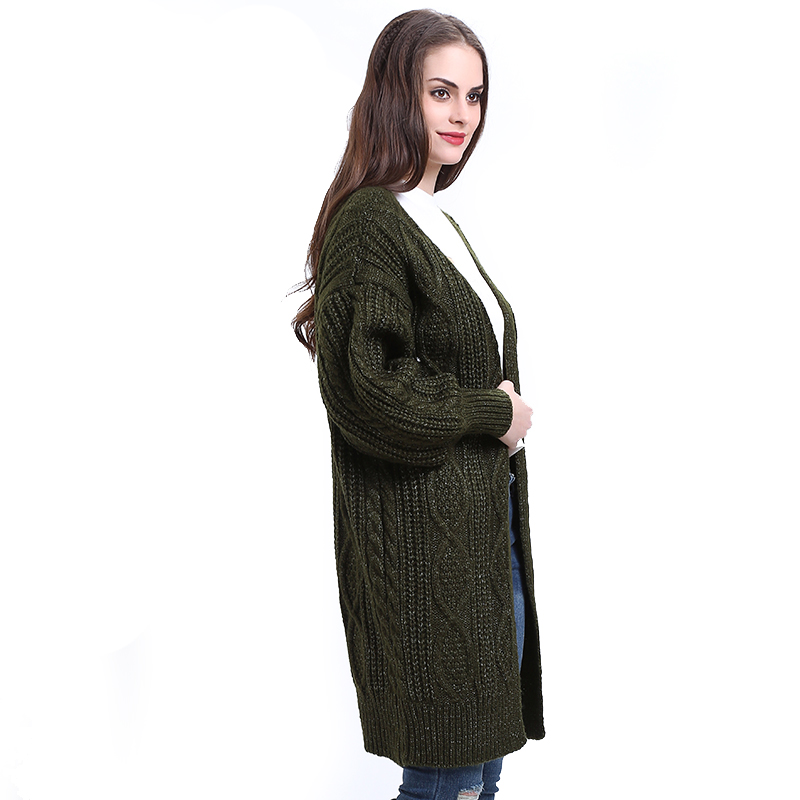 H.SA 17 Women Long Cardigans Autumn Winter Open Stitch Poncho Knitting Sweater Cardigans V neck Oversized Cardigan Jacket Coat 9