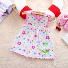 New 2017 baby dress casual clothes children's fashion baby clothes summer style clothes children's clothes flower cotton garment