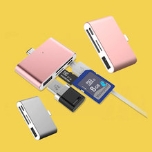 4 In 1 Type C HUB Multifunction Mobile Cell Phone OTG Drive U Disk Memory Card