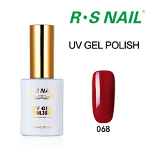 RS 15ML Hot Sale Color Nail Gel Polish UV Lamp Nail Gel Lacquer French Red Nail Polish Soak Off Gel For Christmas Gift 061-090