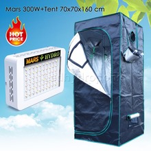 Mars 300W Led Grow Light Veg Flower Full Spectrum Lamp Panel+70x70x160 Grow Tent(China)