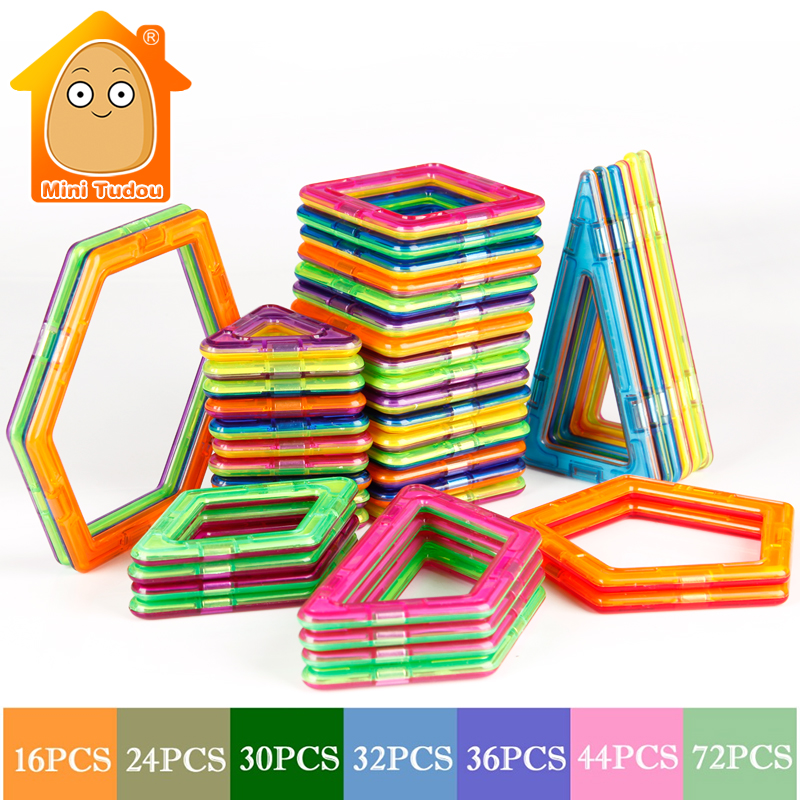 MiniTudou 16-72 PCS Plastic Magnetic Designer Toys Building Blocks Bricks Magnetic Toys Model &amp; Educational 3D DIY For Kids<br><br>Aliexpress