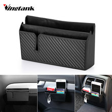 Vingtank New Multifunctional Car Phone Holder Black Mobile Phone Storage Box Holder Pocket box Organizer Car Accessory auto bag(China)