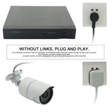 4CH H.264 IR night vision 720P plug-and-play CCTV high-speed Power Line Network Surveillance kit , with up to 600m distance(China)
