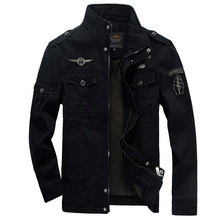 Jacket Men Cotton Jean Military Jackets Plus Size 5XL 6XL New Coat Male jaqueta masculina Pilot outerwear Denim Jackets(China)