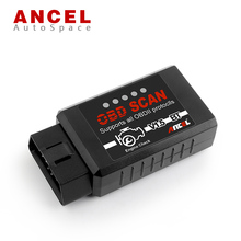 Original Ancel Super Mini ELM327 V1.5 Bluetooth with Android Software OBD2 Code Reader Scan Tool ELM 327 V 1.5 OBD 2 II ODBII