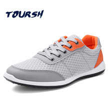 TOURSH 2017 New Summer Sports Shoes Racer Running Shoes For Man Air Mesh Breathable Men Sneakers Zapatillas Hombre Krasovki