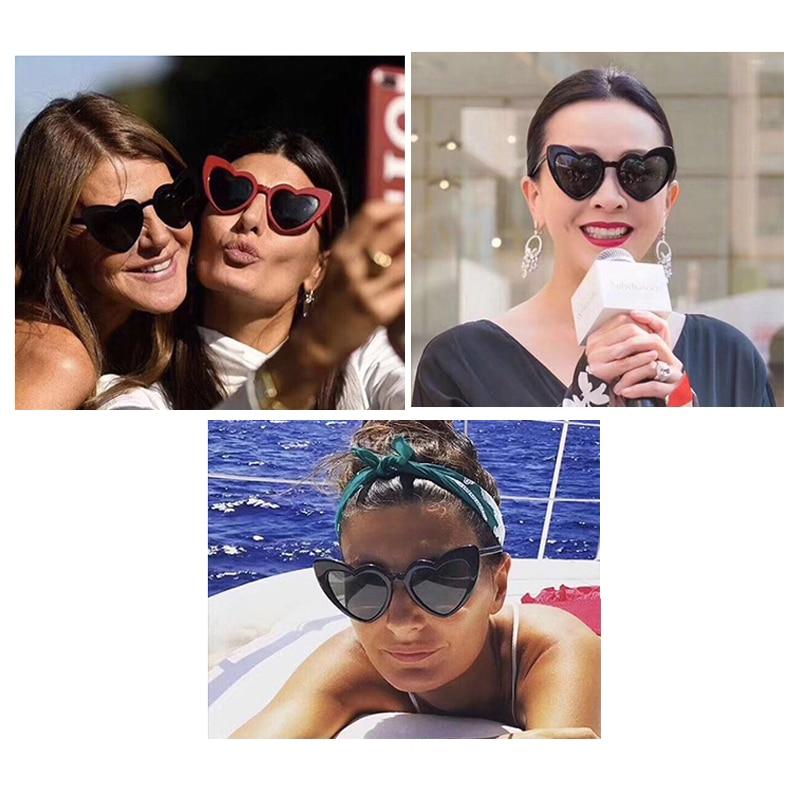 love heart sunglasses women cat eye vintage 7112 details (0)