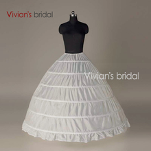 Crinoline 6 Hoop Petticoat For Ball Gown Dress Wedding Accessories Wedding Dresses Underskirt(China)