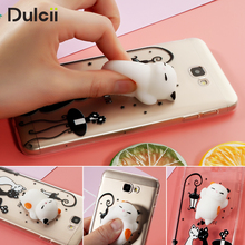 Dulcii S8 S8+ Squishy Case for Samsung Galaxy S7 S7 edge A5 2017 Cases 3D Silicone Cat TPU Capa for Galaxy J7 Prime Cover