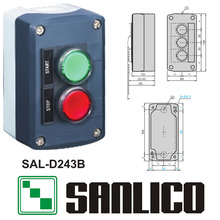waterproof  control box push button switch station   SAL(LA68H-D )-D243B 1 pushbutton with red LED another with green LED