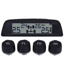 Good Quality 03W  Universal Solar Power Internal Sensor LCD Digital Tire Pressure Monitoring System show  tire temperature