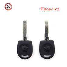 20pcs Newest Blank Shell For Volkswagen (VW) B5 Passat Transponder Key (HU66) + with logo High Quality Free Shipping