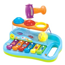 Baby Toys Xylophone Musical Toys Knocking On Piano Keyboard with Balls and Hammer Children Music Educational Toys Instruments