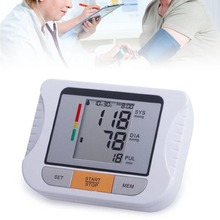2016 Professional Digital LCD Upper Arm Blood Pressure Monitor Tonometer with cuff Heart Beat Free shipping