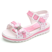 Girl Shoes Sandals Summer Children Princess Shoes With Bow Kids Beach Shoes Fashion Flat Girls Growing Footwear