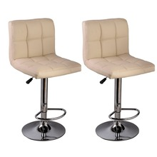 2 PC High quality Swivel Office Furniture Computer Desk Office Chair in PU Leather Chair bar stool New  HW50129-2OW