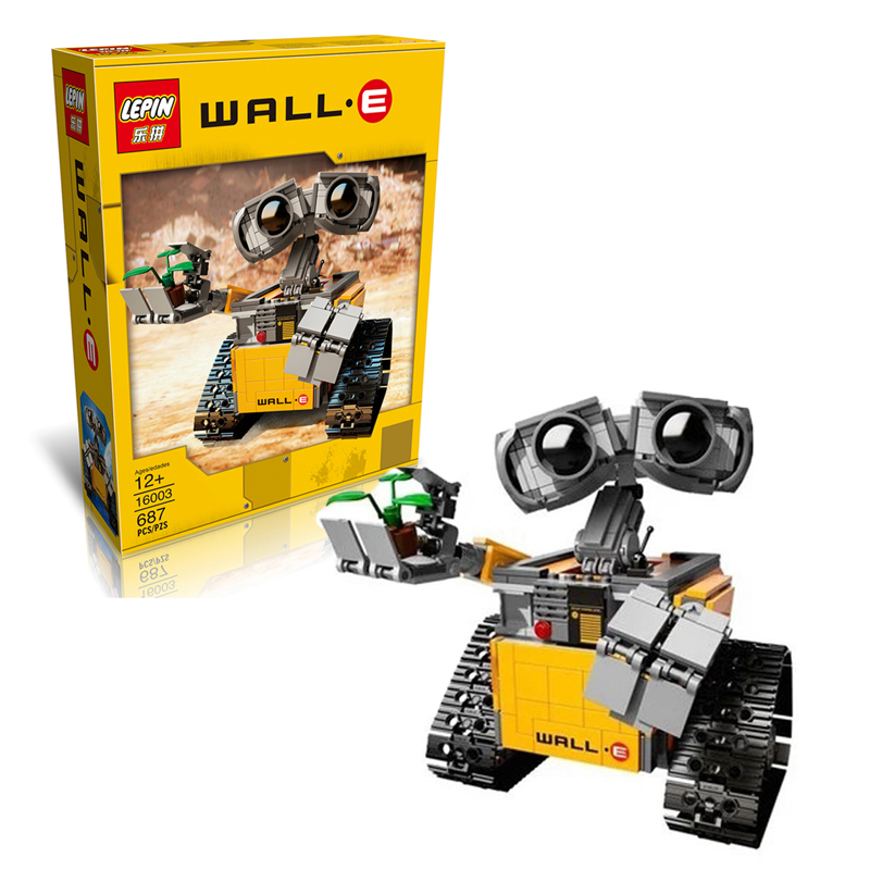 2017 New LEPIN 16003 687Pcs Idea Robot WALL E Model Building Kits Figures Blocks Bricks Children Toys  21303<br><br>Aliexpress