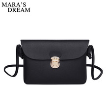Buy Mara's Dream New 2018 New Messenger Bags PU Leather Flap Solid Mini Shoulder Bag Simple Crossbody Bags Purse Bolsas Feminina for $3.59 in AliExpress store