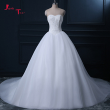 Buy Jark Tozr Real Picture Wedding Dresses Plus Size 2018 Robe De Mariee Lace Tulle Chapel Train Gorgeous Bridal Gowns Casamento for $240.27 in AliExpress store