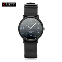 GAIETY Leather Watch Man Sport Luxury Black Wrist Watch For Men Clock Fashion Dress Sport Men's Watch Cheap G151