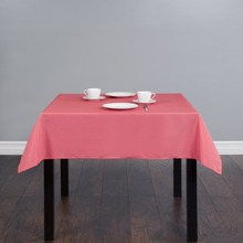 Fedex IE 54 inch/140cm Square Polyester Tablecloth Coral for Wedding Event Banquet Party 20/Pack(China)