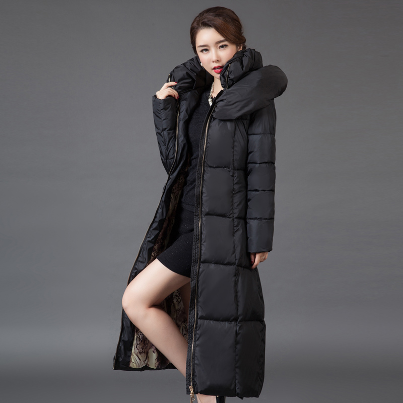 Women's Winter Jacket Down Parkas Long Thick Print Female Coat Down jacket for Women Clothing Thick Outerwears Plus Size A473