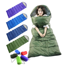 Outdoor Adult Thermal Envelope Hooded Travel Sleeping Bags Lazy Bag Lunch break cotton quilt Keep warm waterproof 700g/1300g(China)