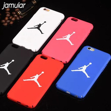 JAMULAR Sport Hard Plastic Matte Back Cover For iPhone 8 7 Plus Jordan Full Protect Phone Case For iPhone 6 6S Plus 5 5s SE bag(China)