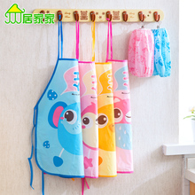 Children eat aprons waterproof anti-dress, baby summer sleeveless gowns painting bibs