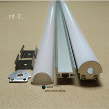 10pcs/lot 2m Free shipping led aluminium profile for led bar light led strips housing with PC cover and accessories YD-01-2m