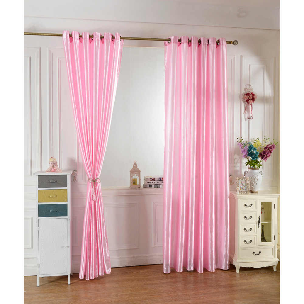 100*250 pink color curtain  Window Curtains For Kids Boys Girls Bedding room Living room Elegent Bule Drapes Cortinas para sala