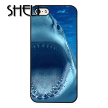 SHELI Shark Teeth Deep Blue Sea Ocean case cover for iphone 5s 5c SE 6 6s 6plus 7 7plus Samsung galaxy note7 s3 s4 s5 s6 s7 edge(China)