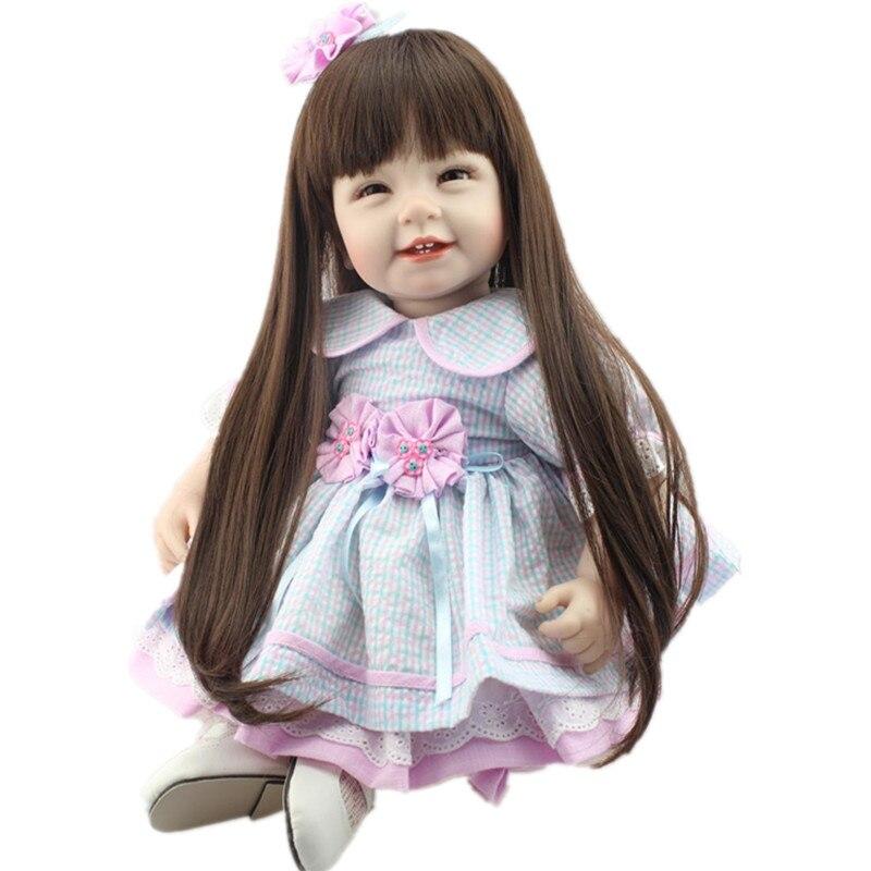 Silicone Reborn Dolls Realistic Supernatural Babies Toys For Girls Lifelike Reborn Babies Blue Princess Doll Birthday Gift<br><br>Aliexpress