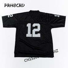 Retro star #12 Ken Stabler Gestickte Throwback Fußball Jersey(China)