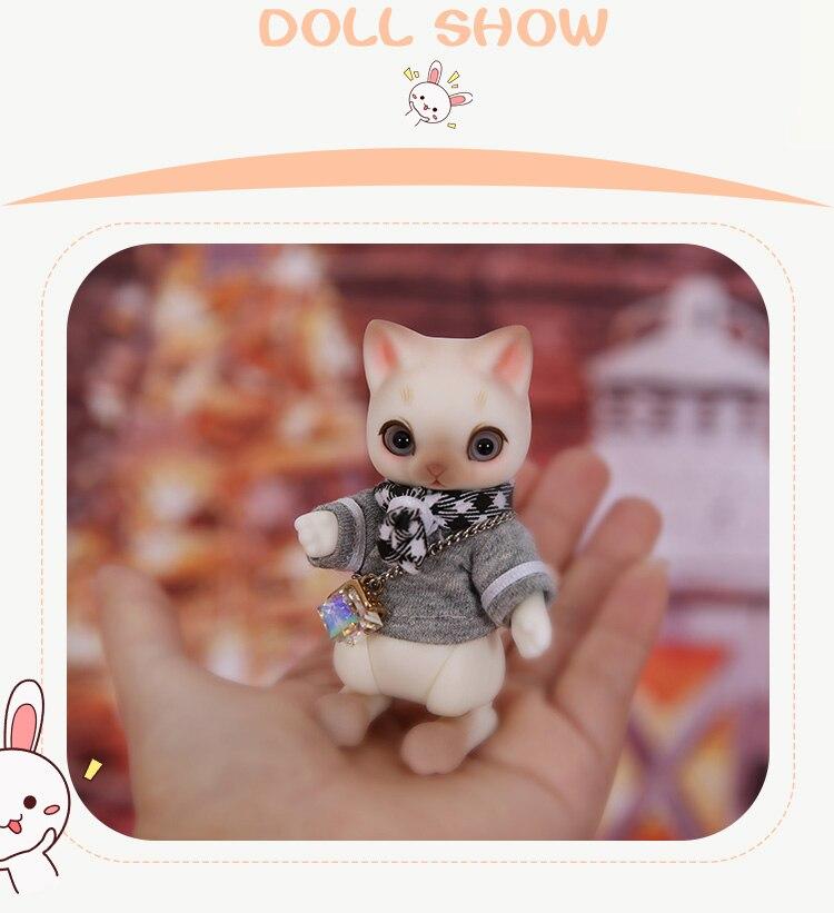 1//8 BJD Doll SD Doll zuzu nyang cat pet Free Make Up+Free Eyes