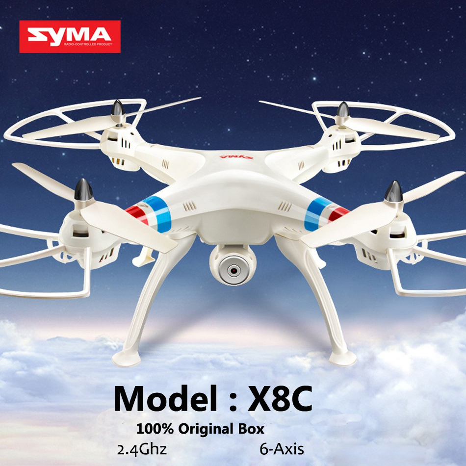 SYMA X8C 2.4G 4CH 6Axis Professional Helicopter RC Drone Quadcopter 2MP Wide Angle HD Camera Remote Control Quadcopter Toy Gift<br><br>Aliexpress