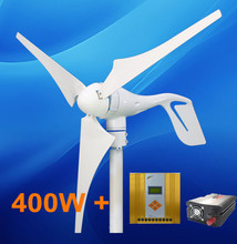 Home Power System 400W Wind Turbine + 600W MPPT Hybrid Controller + 500W Inverter